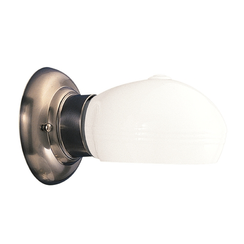 Hudson Valley Lighting Sconce with White Glass in Satin Nickel Finish 101-SN-599