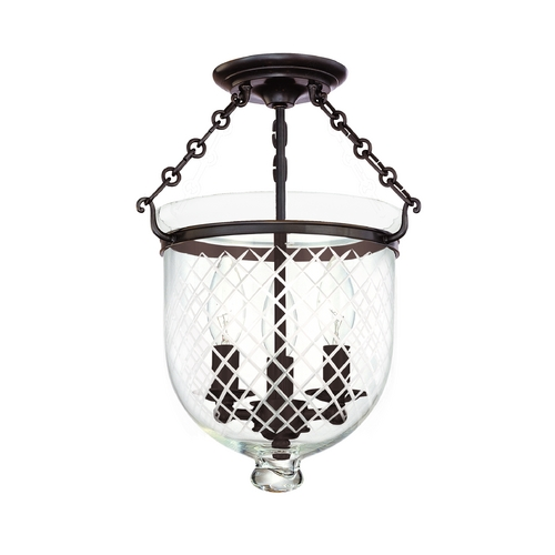 Hudson Valley Lighting Semi-Flushmount Light with Clear Glass in Old Bronze Finish 251-OB-C2