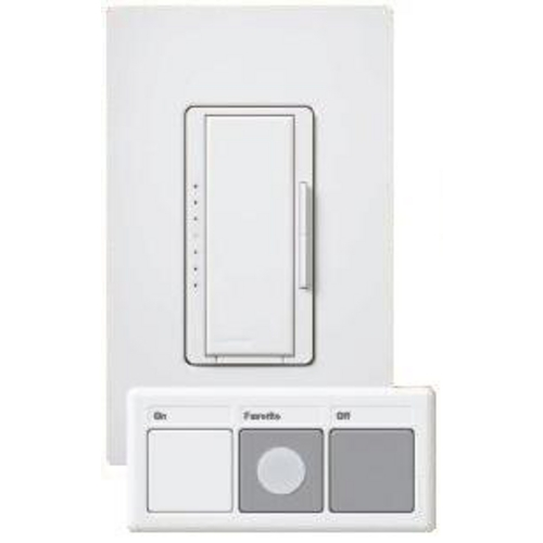 Lutron Dimmer Controls 600-Watt Dimmer with Wireless Controller MRF2-PICO-WH