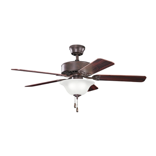 Kichler Lighting Kichler Lighting Renew Select Tannery Bronze Ceiling Fan with Light 330110TZ