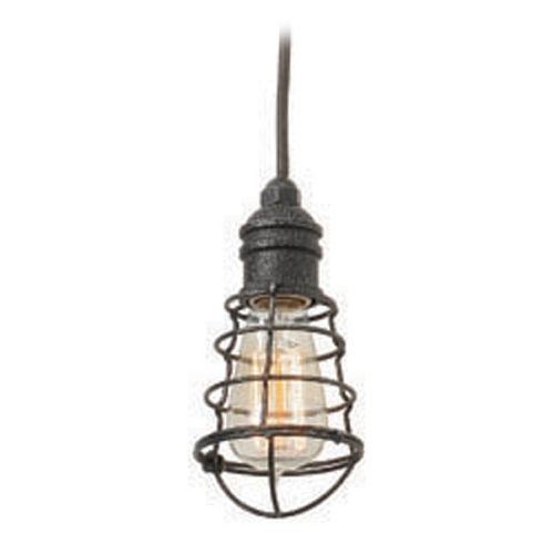 Troy Lighting Troy Lighting Conduit Old Silver Mini-Pendant Light F3813