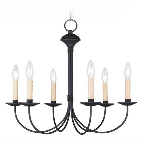 Livex Lighting Livex Lighting Heritage Black Chandelier 4526-04