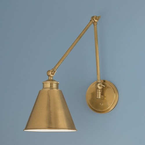 Norwell Lighting Norwell Lighting Aidan Aged Brass Swing Arm Lamp 8475-AG-MS