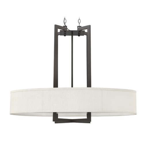 Hinkley Lighting Hinkley Lighting Hampton Buckeye Bronze Pendant Light with Drum Shade 3208KZ