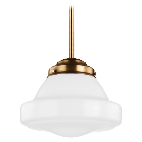 Feiss Lighting Feiss Alcott Aged Brass LED Pendant Light P1379AGB-LED