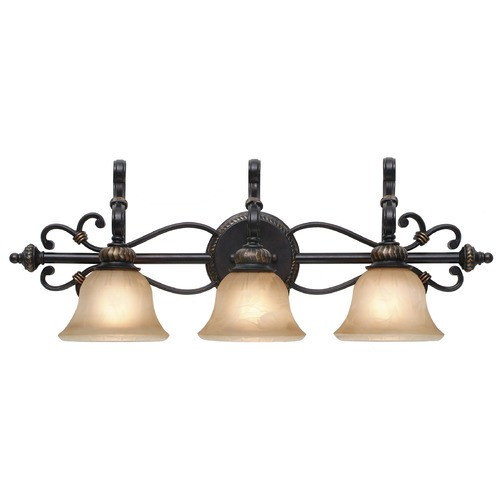 Golden Lighting Golden Lighting Jefferson Etruscan Bronze Bathroom Light 6029-BA3 EB
