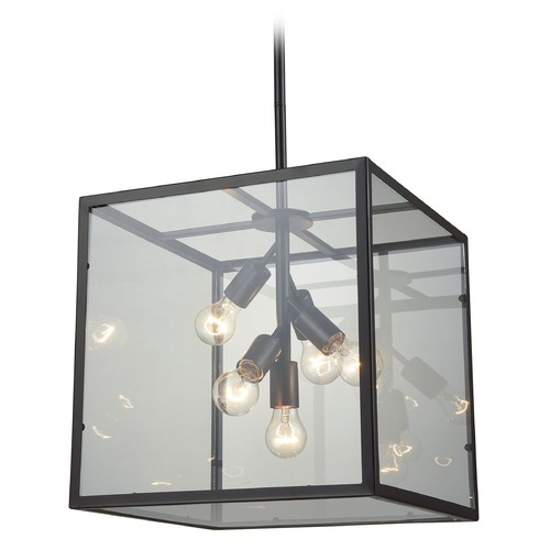 Dimond Lighting Dimond Cluster Box Oil Rubbed Bronze Pendant Light with Square Shade D3198