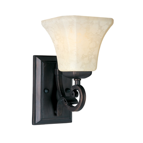 Maxim Lighting Maxim Lighting Oak Harbor Rustic Burnished Sconce 21063FLRB
