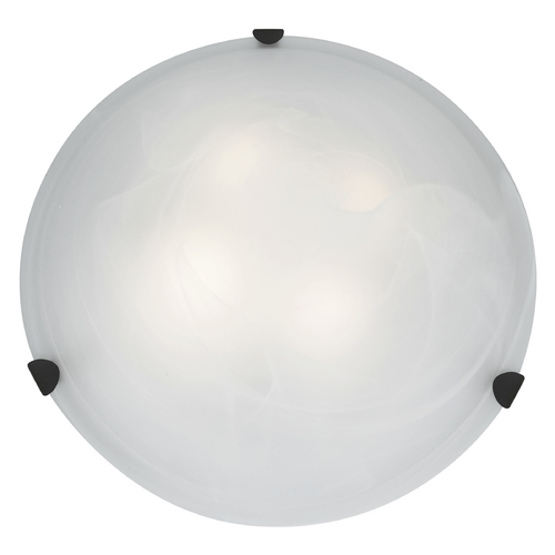 Access Lighting Modern Flushmount Light with Alabaster Glass in Rust Finish 23021GU-RU/ALB