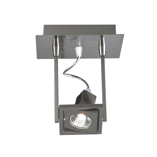 PLC Lighting Modern Sconce Wall Light in Satin Nickel Finish 1271 SN