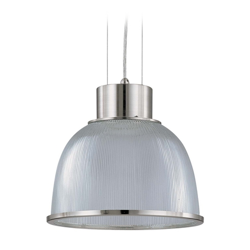 Nuvo Lighting Modern Pendant Light with Clear Glass in Brushed Nickel Finish 60/2923