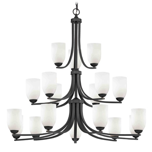 Design Classics Lighting Design Classics Dalton Fuse Neuvelle Bronze Chandelier 5863-220 GL1028D