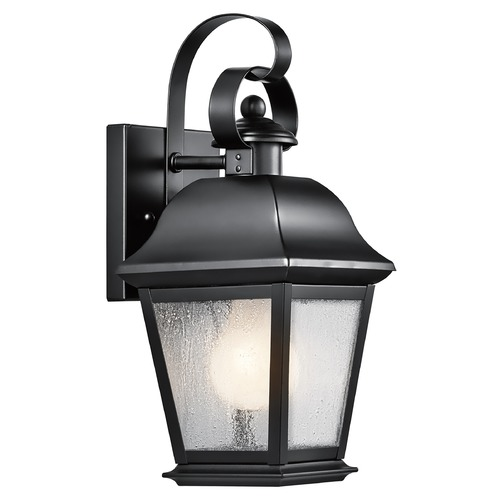 Kichler Lighting Kichler Outdoor Wall Light with Clear Glass in Black Finish 9707BK