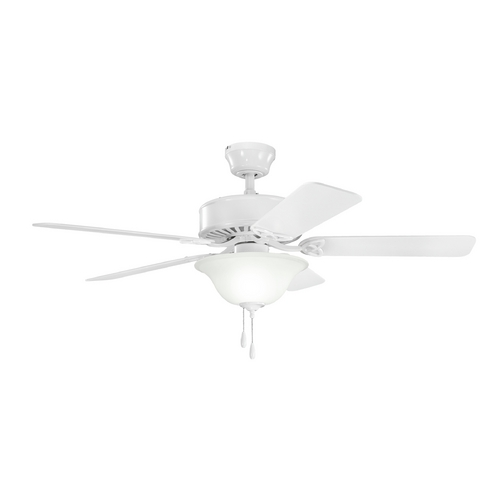 Kichler Lighting Kichler Lighting Renew Select White Ceiling Fan with Light 330110WH