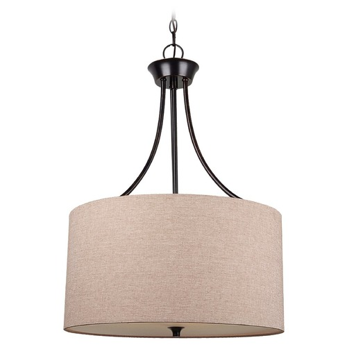 Sea Gull Lighting Sea Gull Lighting Stirling Burnt Sienna Pendant Light with Drum Shade 65953BLE-710