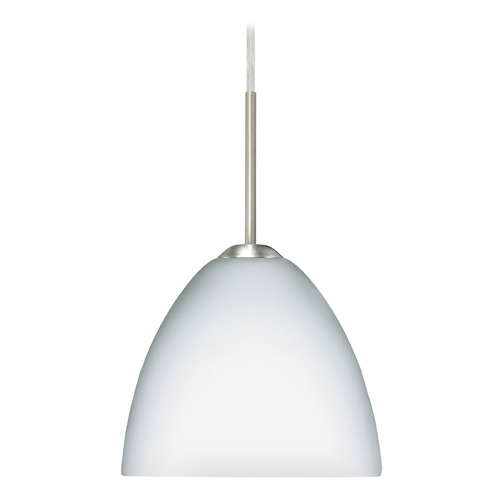 Besa Lighting Besa Lighting Sasha Ii Satin Nickel LED Mini-Pendant Light with Bell Shade 1BT-757207-LED-SN