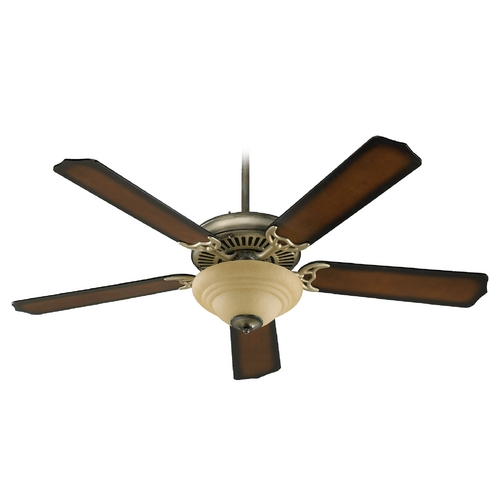 Quorum Lighting Quorum Lighting Capri Iii Antique Flemish Ceiling Fan with Light 77525-9422