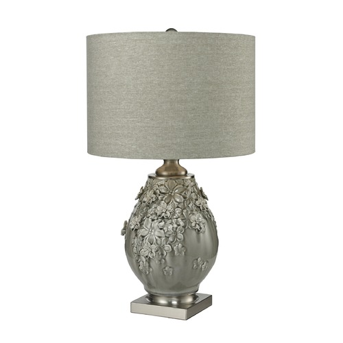 Dimond Lighting Dimond Lighting Grey Glaze, Brushed Steel Table Lamp with Drum Shade D2609
