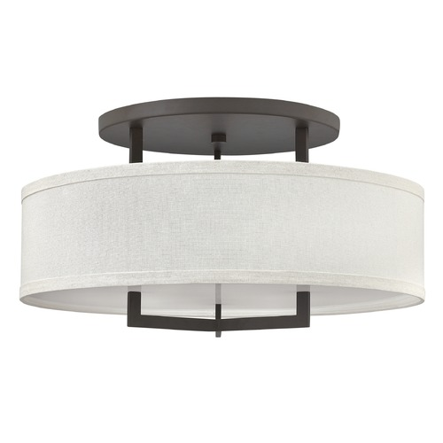 Hinkley Lighting Hinkley Lighting Hampton Buckeye Bronze LED Semi-Flushmount Light 3211KZ-LED