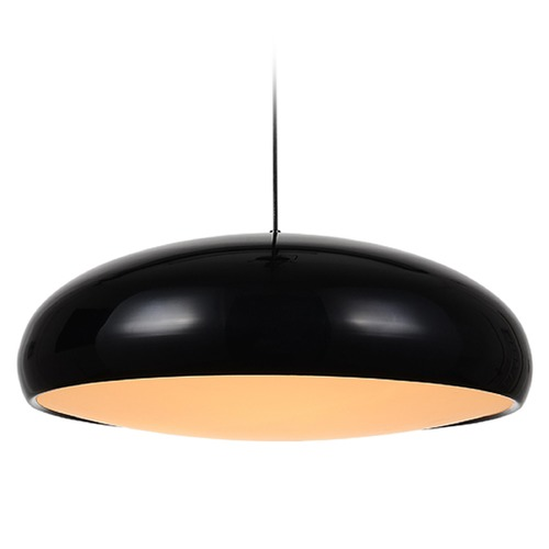 Avenue Lighting Avenue Lighting Doheny Ave. Black Pendant Light with Bowl / Dome Shade HF-9116-BK