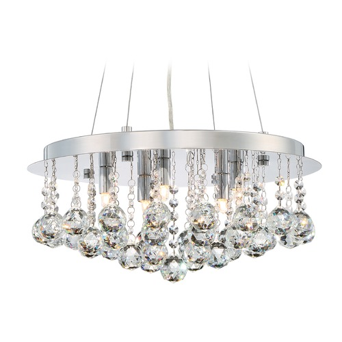 Quoizel Lighting Quoizel Bordeaux with Clear Crystal Polished Chrome Pendant Light BRX2818C