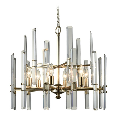 Dimond Lighting Dimond Arthur Antique Silver Leaf Chandelier D3199