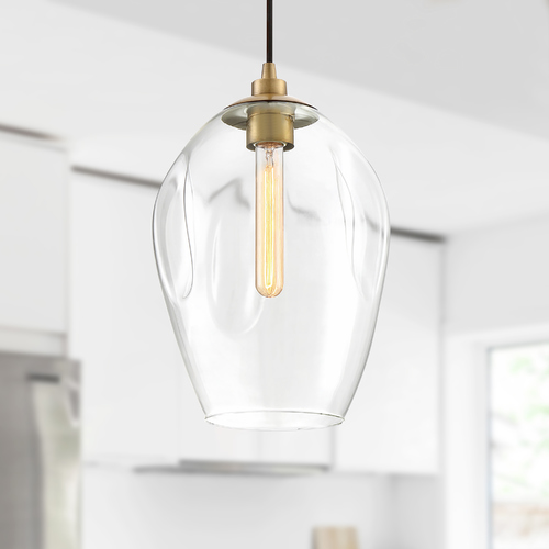 Quoizel Lighting Quoizel Lighting Nostalgia Weathered Brass Pendant Light with Bowl / Dome Shade NGA1510WS