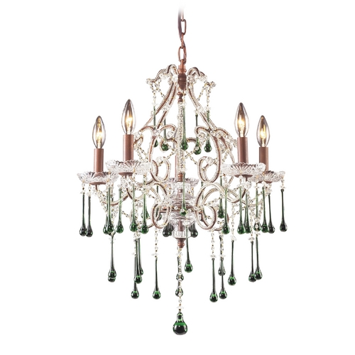 Elk Lighting Mini-Chandelier in Rust Finish 4012/5LM