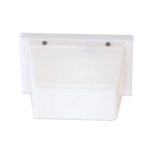 Sea Gull Lighting Outdoor Wall Light in White Plastic Finish 4325-68