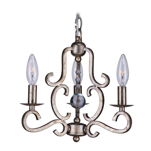 Crystorama Lighting Mini-Chandelier in Olde Silver Finish 9347-OS