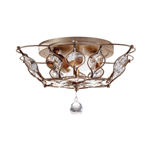 Feiss Lighting Semi-Flushmount Light in Burnished Silver Finish FM374BUS