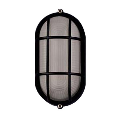 PLC Lighting Modern Outdoor Wall Light with White Glass in Black Finish 1252 BK
