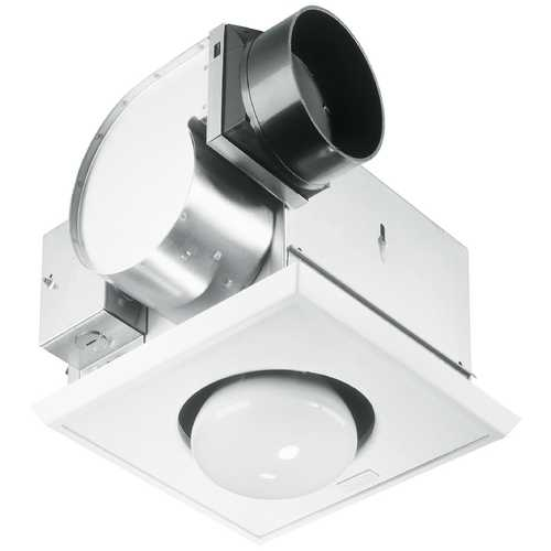 nutone bathroom 70 cfm exhaust fan with heat lamp and light un 9417 dn. Black Bedroom Furniture Sets. Home Design Ideas
