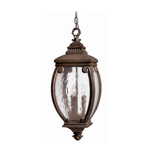 Hinkley Lighting Outdoor Hanging Light with Clear Glass in French Bronze Finish 1942FZ