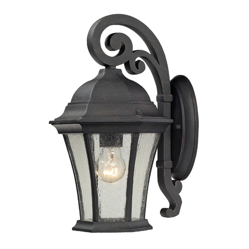Elk Lighting Outdoor Wall Light with Clear Glass in Weathered Charcoal Finish 45050/1