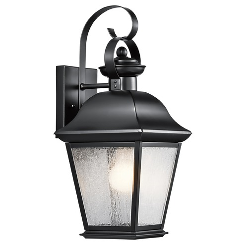 Kichler Lighting Kichler Outdoor Wall Light with Clear Glass in Black Finish 9708BK