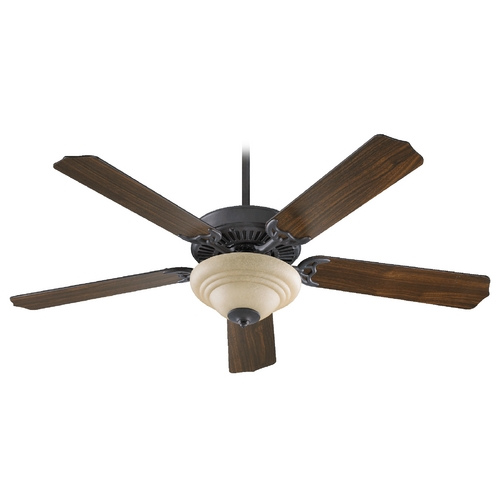 Quorum Lighting Quorum Lighting Capri Iii Toasted Sienna Ceiling Fan with Light 77525-9444