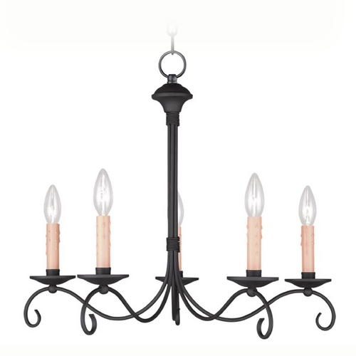 Livex Lighting Livex Lighting Heritage Black Chandelier 4475-04