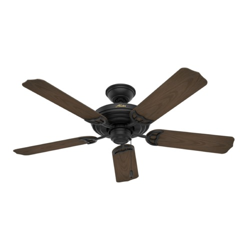 Hunter Fan Company Hunter Fan Company Sea Air Textured Matte Black Ceiling Fan Without Light 53060