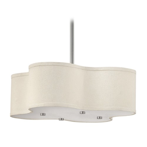 Hinkley Lighting Hinkley Lighting Cirrus Brushed Nickel LED Pendant Light with Square Shade 3804BN-LED