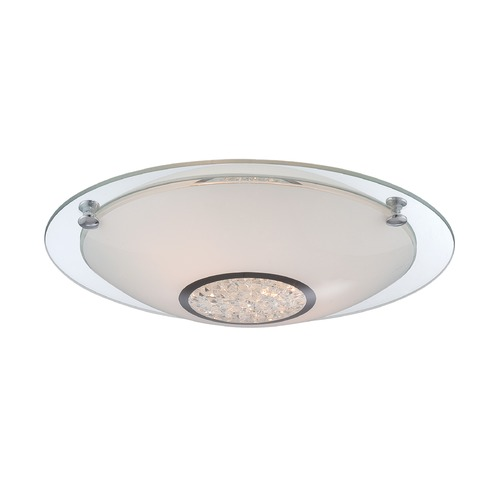 Lite Source Lighting Lite Source Zorana Chrome Flushmount Light LS-5670