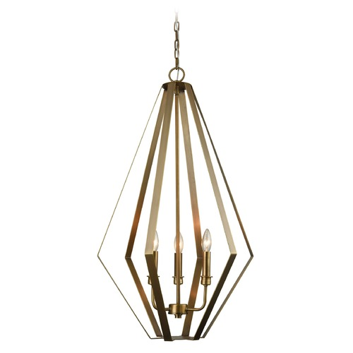 Dimond Lighting Dimond Headline Antique Silver Leaf Pendant Light D3200