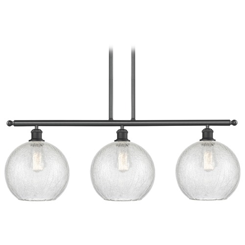 Innovations Lighting Innovations Lighting Athens Matte Black Island Light with Globe Shade 516-3I-BK-G125