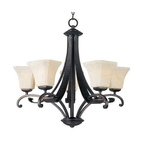 Maxim Lighting Maxim Lighting Oak Harbor Rustic Burnished Chandelier 21065FLRB