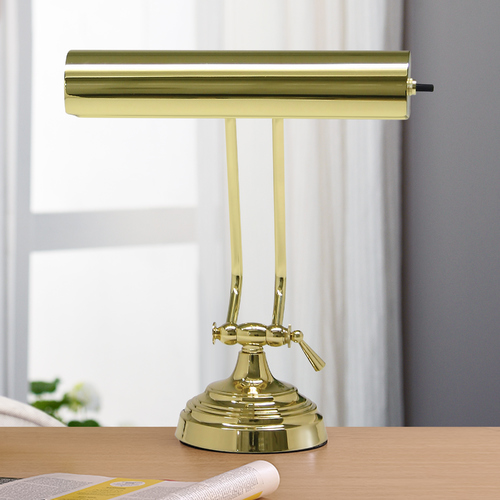 House of Troy Lighting Piano / Banker Lamp in Polished Brass Finish P10-131-61