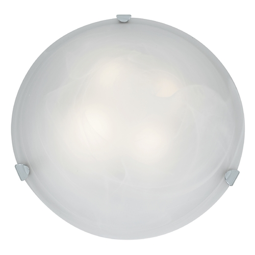 Access Lighting Modern Flushmount Light with Alabaster Glass in Chrome Finish 23021GU-CH/ALB