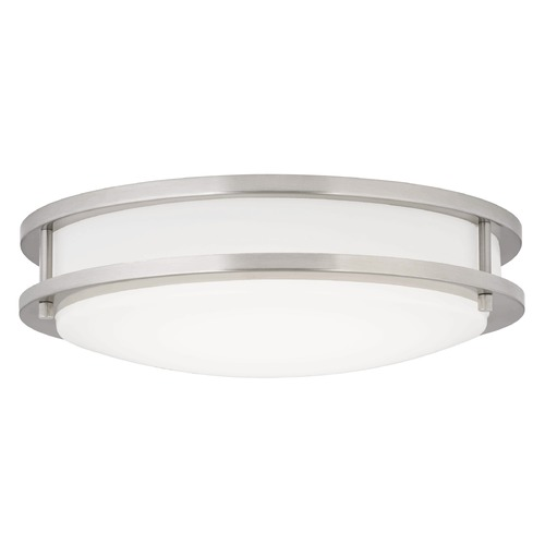 Design Classics Lighting LED Flush Ceiling Light Satin Nickel 14-Inch 3014-90-09 T16