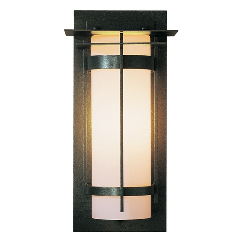 Hubbardton Forge Lighting Outdoor Wall Light with Opal Glass - 16-1/4-Inches Tall 305993-20-G34