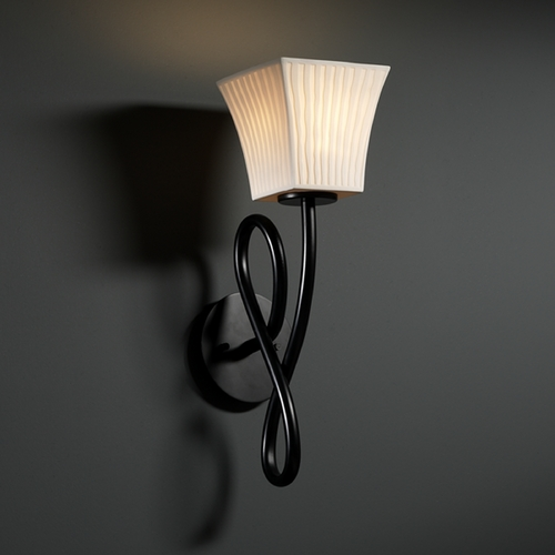 Justice Design Group Justice Design Group Limoges Collection Sconce POR-8911-40-WFAL-MBLK