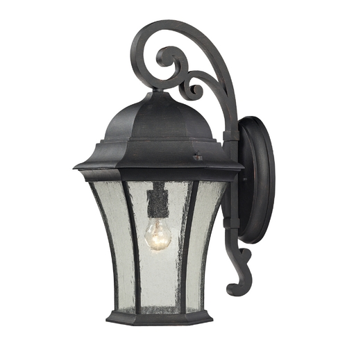 Elk Lighting Outdoor Wall Light with Clear Glass in Weathered Charcoal Finish 45052/1
